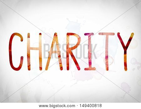 Charity Concept Watercolor Word Art