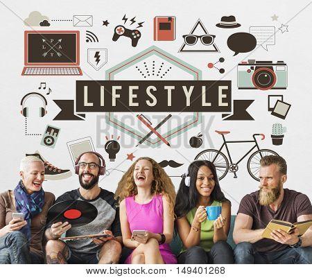 Social Media Entertainment Lifestyle Graphic Concept