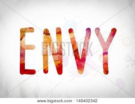 Envy Concept Watercolor Word Art