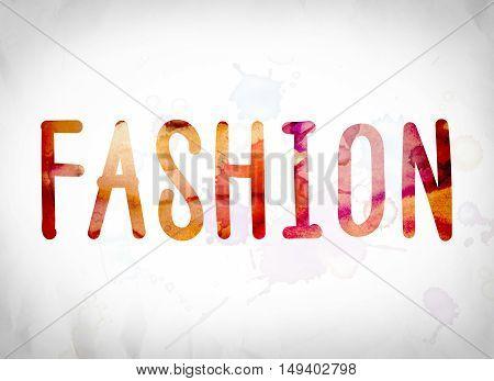 Fashion Concept Watercolor Word Art