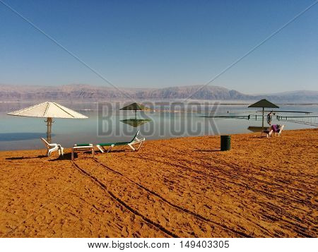 A vacation location at the dead sea