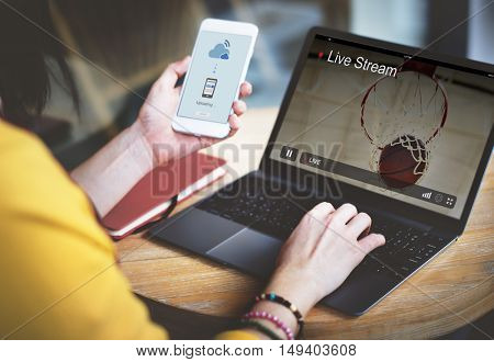 Live Stream Video Multimedia Concept