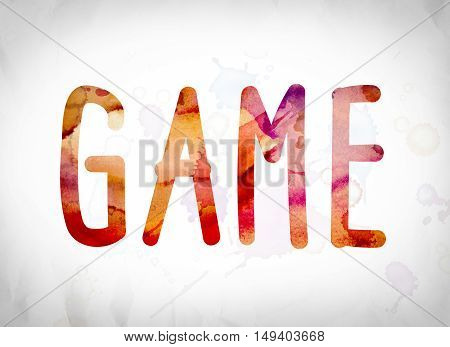 Game Concept Watercolor Word Art