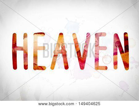 Heaven Concept Watercolor Word Art