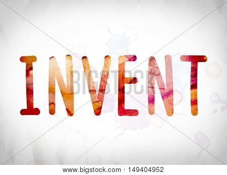Invent Concept Watercolor Word Art