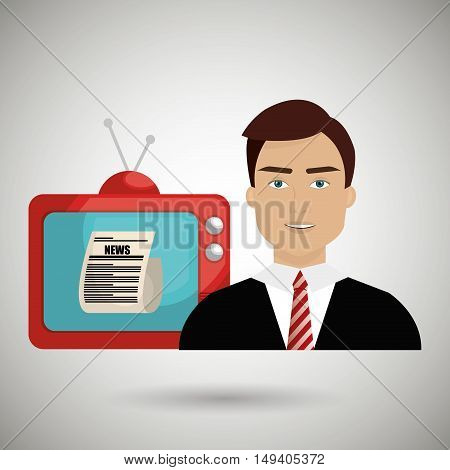 reporter tv news vector illustration eps 10