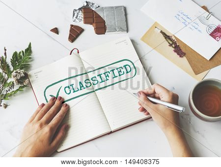 Classified Category Genre Kind Section Graphic Concept