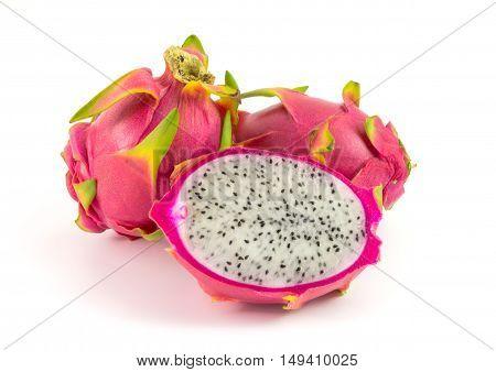 Pitaya fruit isolated on white studio isolated