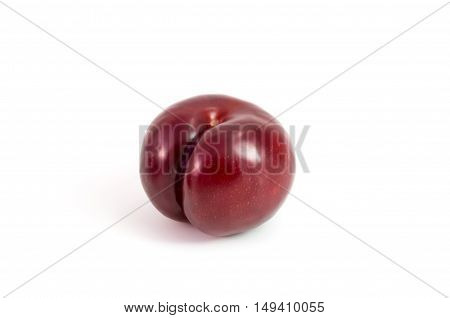 Prunes Plum fruit isolated on white studio isolated
