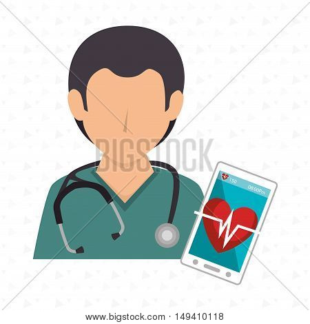 nurse stethoscope medical service vector illustration eps 10