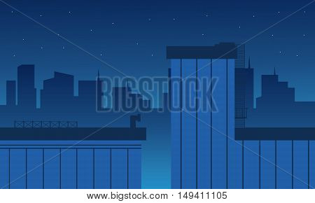 Vector flat of building and city landscape illustration