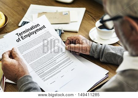 Termination of Employment Form Concept