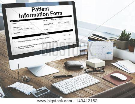 Patient Information Form Document Details Concept