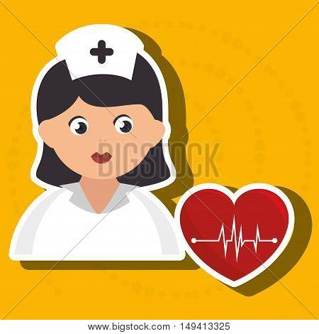 nurse cartoon care medical vector illustration eps 10