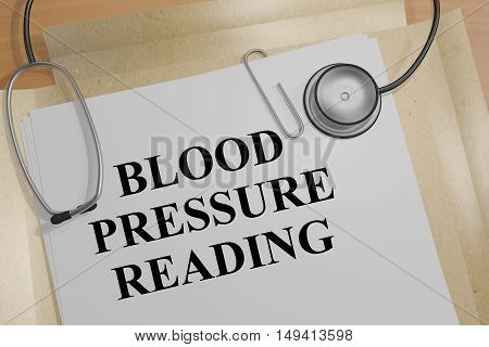 Blood Pressure Reading Concept