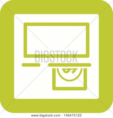 Machine, atm, cash icon vector image. Can also be used for currency. Suitable for use on web apps, mobile apps and print media.