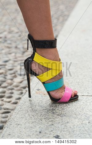 Detail Of Shoes At Milan Fashion Week