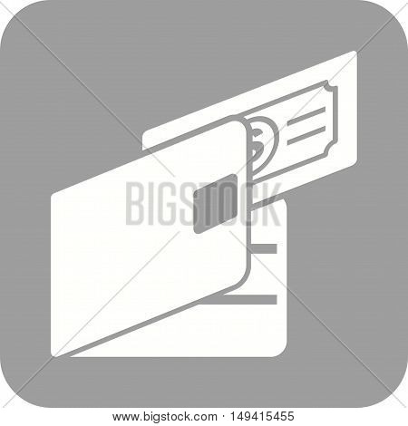 Wallet, money, cash icon vector image.Can also be used for currency. Suitable for use on web apps, mobile apps and print media.