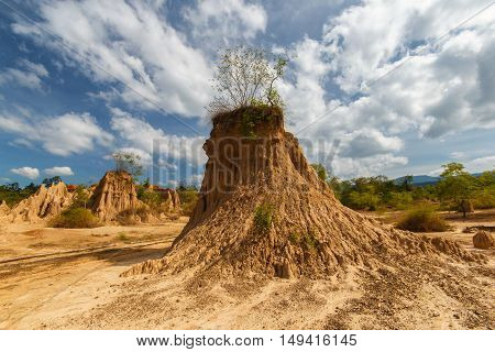 Soil erosion has produced strange shapes is called