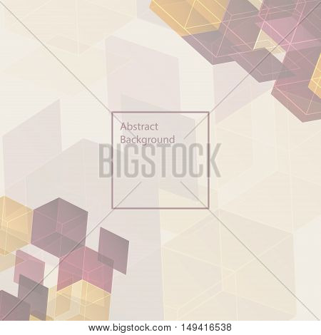 3d retro multicolor abstract background - vector illustration. Background design