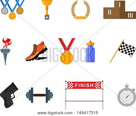 Abstract graphic set of flat sport icons. EPS10