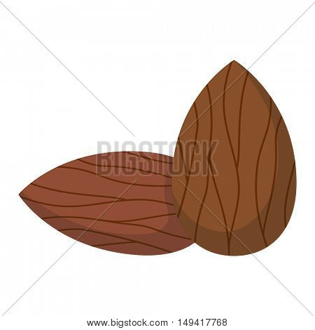 Pile of nuts vector illustration.