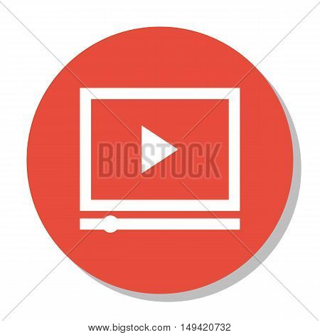 Vector Illustration Of Seo, Marketing And Advertising Icon On Video Advertising In Trendy Flat Style