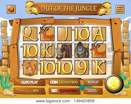 Slot game with an animal theme
