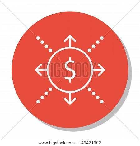Vector Illustration Of Project Management Icon On Cash Flow, Business And Success In Trendy Flat Sty