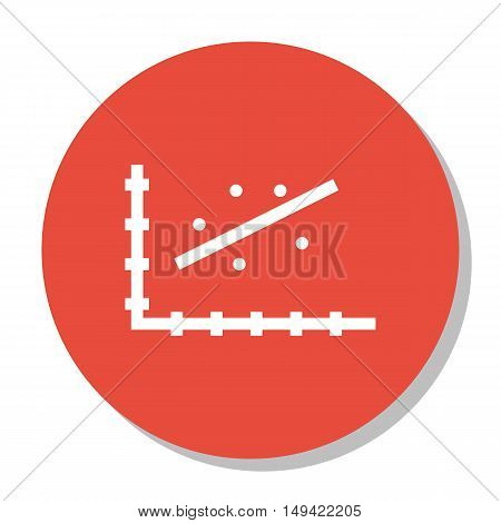 Vector Illustration Of Statistics Icon On Scatter Chart Graph In Trendy Flat Style. Statistics Isola
