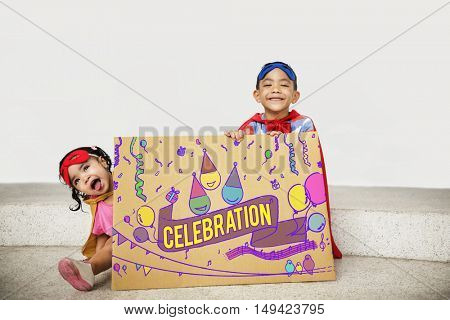 Celebration Congratulations Kid Enjoyment Concept