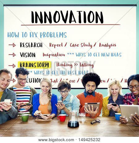 Innovation Creativity Brainstorm Plan Concept