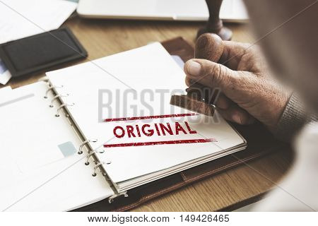 Original Patent Trademark Brand Copyright Concept