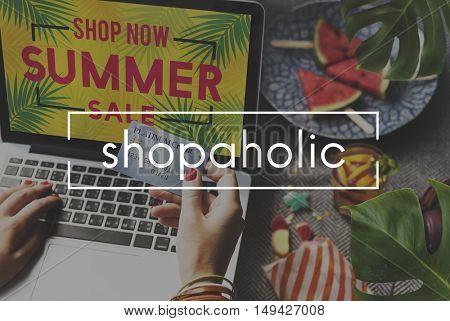 Online Shopping Commerce Internet Consumerism Concept