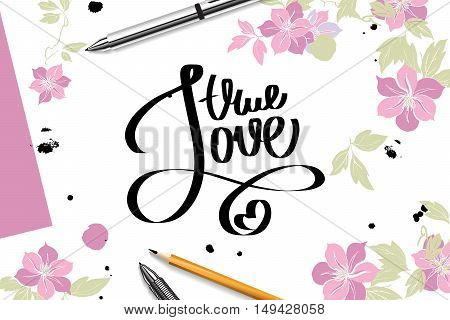 Lettering With True Love