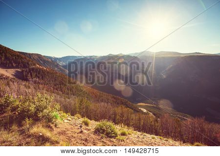 Picturesque mountain landscape on sunny day in Summer time. Good for natural background.