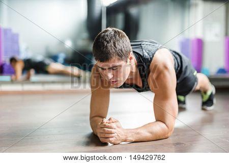 Doing planks