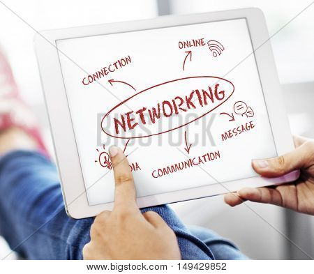 Social Media Communication Connection Network Concept