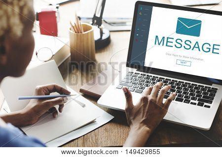 Message Contact Envelope Online Technology Concept