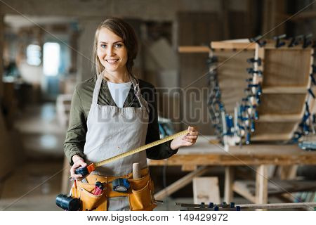 Female in workshop
