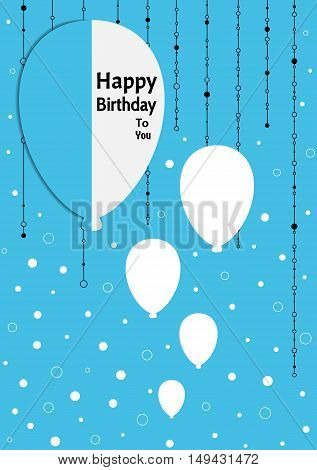 Birthday Poster With Splitted Balloons
