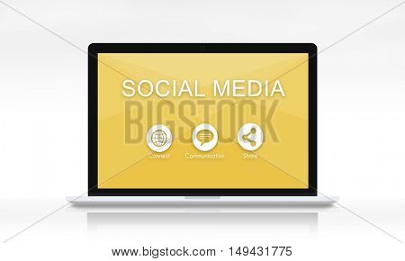 Global Networking Share Social Media Graphic Concept