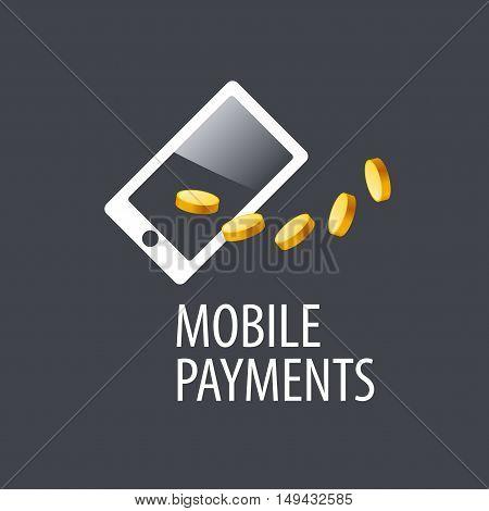 mobile payment logo design template. Vector illustration