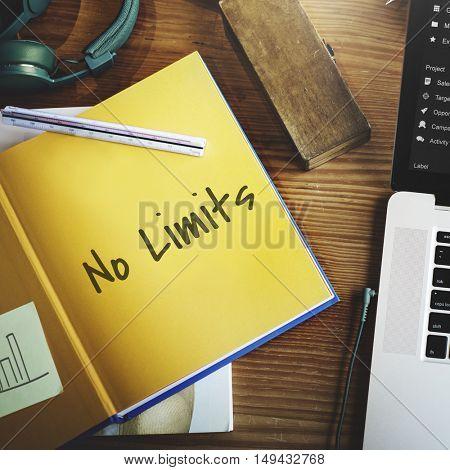 No Limits Ideas Work Concept