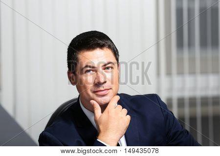 Man working in modern office