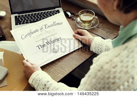 Winner Senior Retirement Pensioner Adult Elderly Concept
