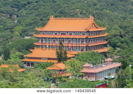 Po Lin Monastery In Lantau Island, Hongkong