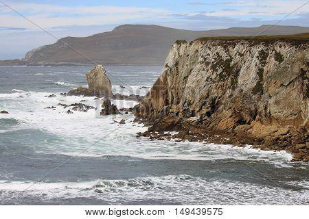 The Achill Island coastline. County Mayo, Ireland