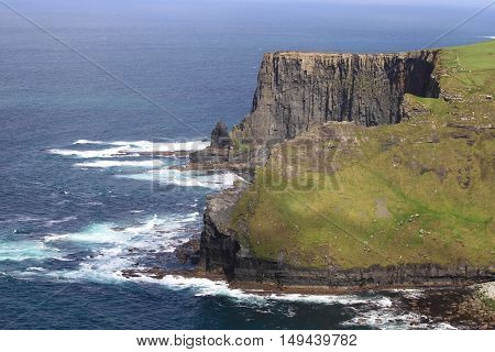 Landscape view of the Cliffs of Moher. County Clare, Ireland