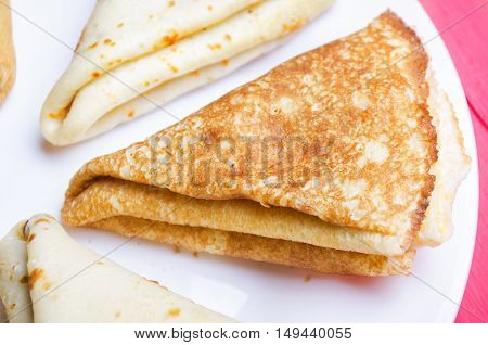 Fried Pancakes On A Plate